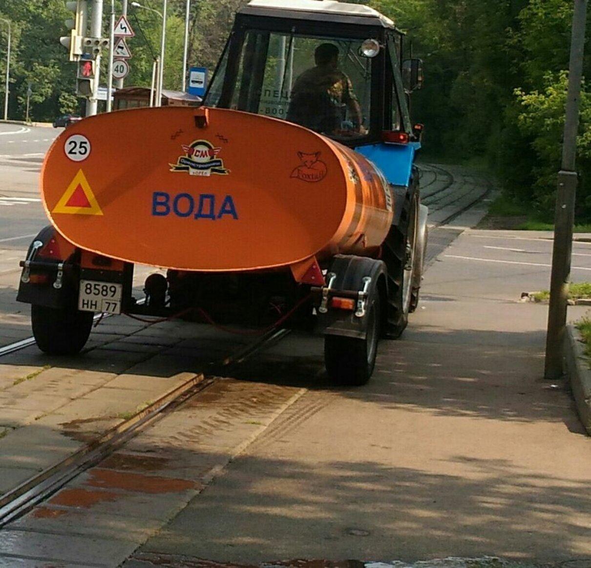 Жалоба-отзыв: Водитель поливальной машины - Водитель поливальной машины облил пешехода.  Фото №2