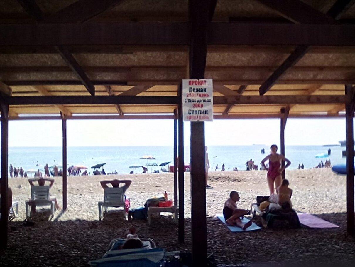 Жалоба-отзыв: Администратор лежаков на городском пляже г - Сколько стоит тень на городском пляже?.  Фото №2