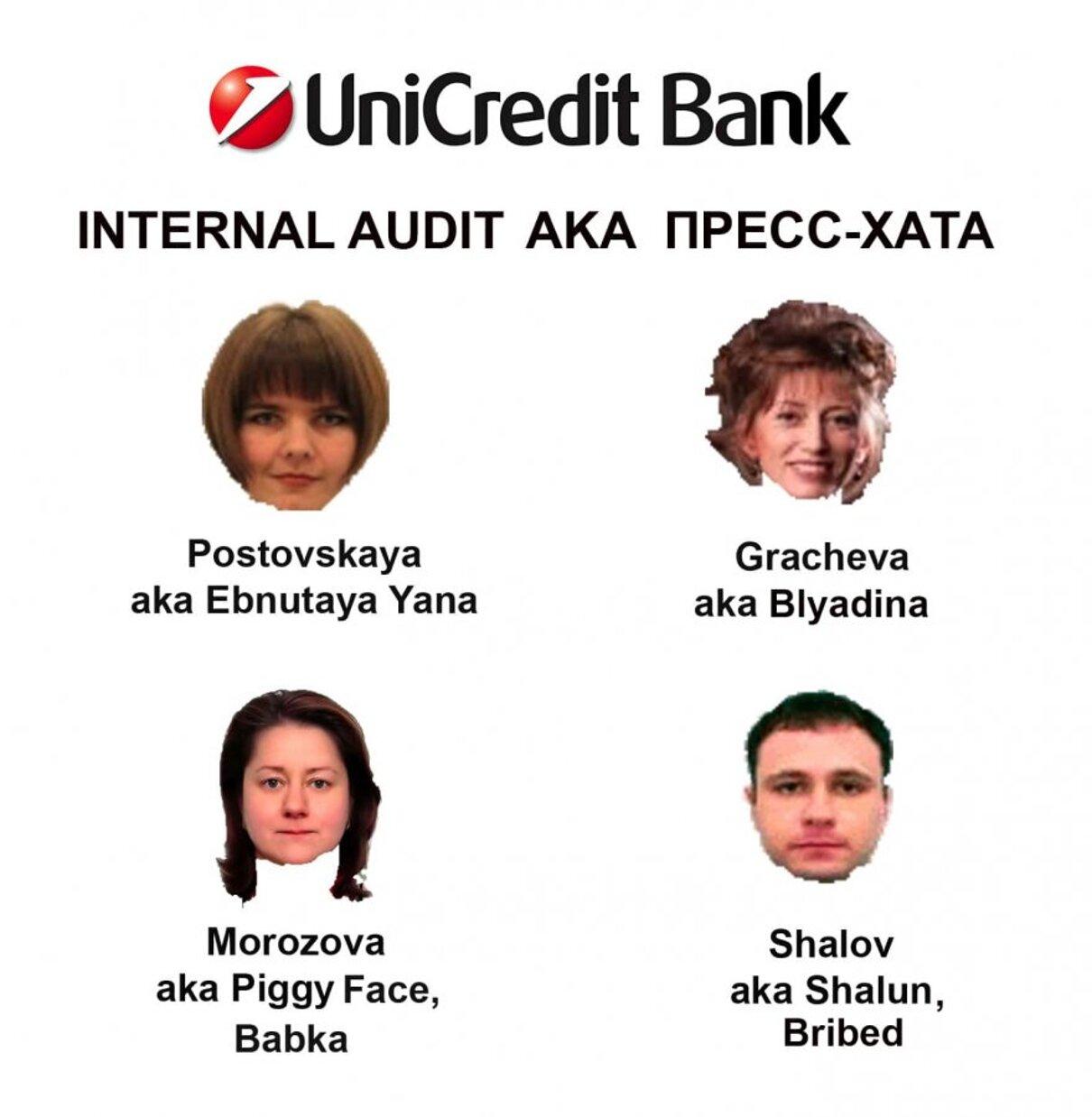 Жалоба-отзыв: UniCredit Bank - О ДЕПАРТАМЕНТЕ ВНУТРЕННЕГО АУДИТА ЮНИКРЕДИТ БАНКА.  Фото №3