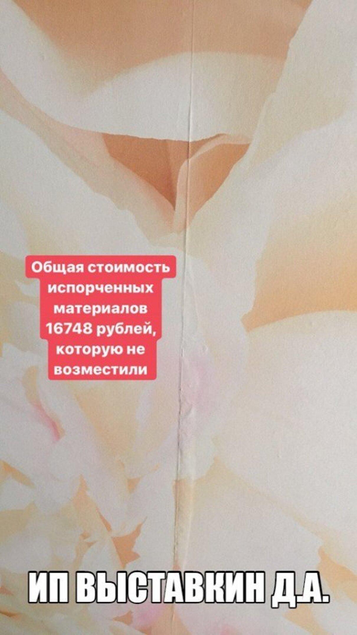 Жалоба-отзыв: ИП Выставкин Дмитрий Анатольевич (Pro мастер) - НЕкачественный ремонт квартир под ключ в Сыктывкаре.  Фото №2