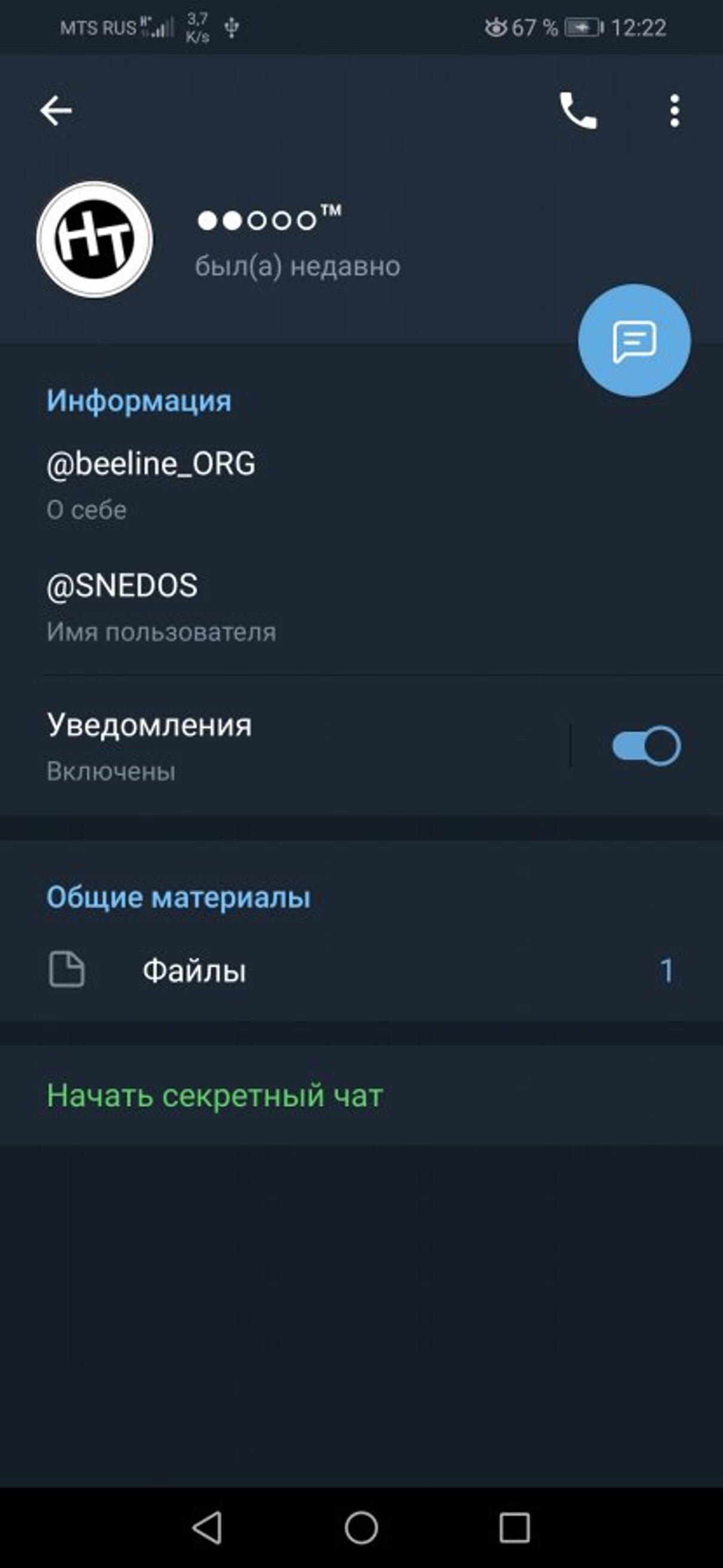 Жалоба-отзыв: Телеграм канал Непубличные тарифы, @SNEDOS, @beeline_ORG - Осторожно телеграм мошенники!.  Фото №3