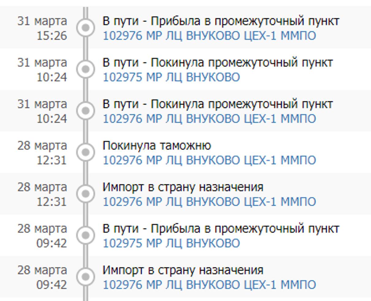 Жалоба-отзыв: Почта России Шарапово - Задержка отправления